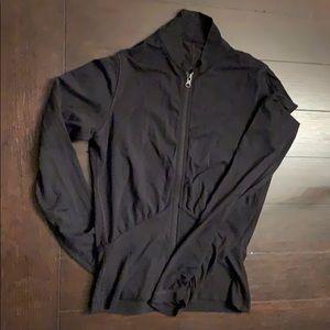 Lightweight black zipper sleeve Lululemon jacket